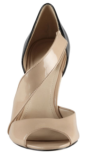 taupe shoes with asymmetric strap