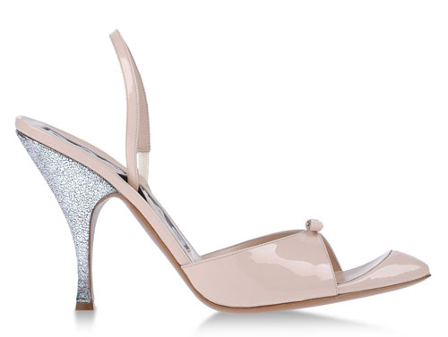 pink patent slingback shoes