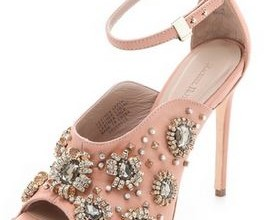 pink shoes with embellishments
