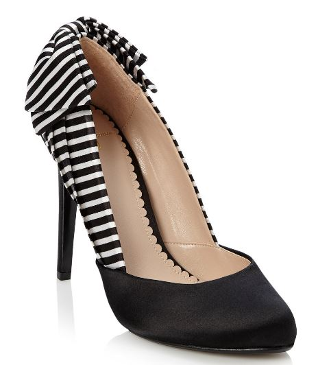 black and white stripe court shoes