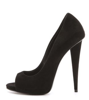 black peep toe shoes by Giuseppe Zanotti