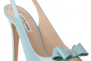 pale blue shoes with bow