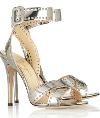 Charlotte Olympia silver sandals