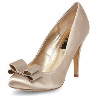 mink bow court shoes