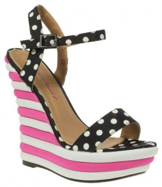 polka dot wedges