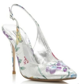 floral slingback shoes