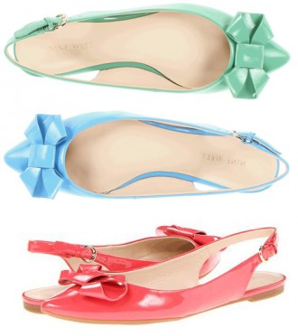 Nine West Kiliana bow flats