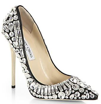 Jimmy Choo court shoes with crystal embellishment