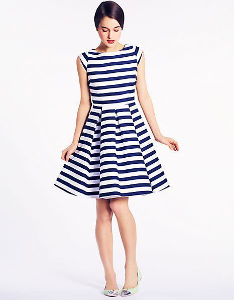 Kate Spade Mariella nautical stripe dress