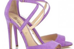 lilac suede sandals