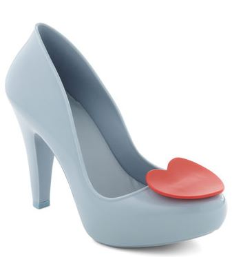 blue heart front shoes