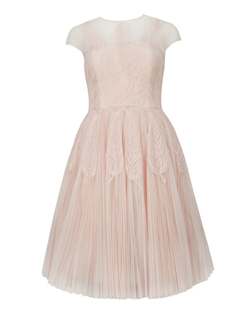 pink tulle prom dress by Ted Baker