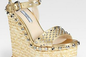 gold studded wedges