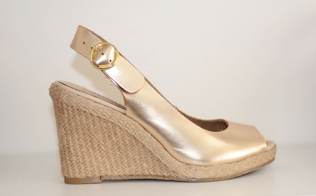 5ef2b625a60f Shoe Review  Dune  Gleeful  gold wedge sandals