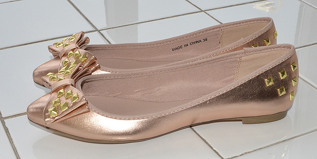pointed ballet flats with bow