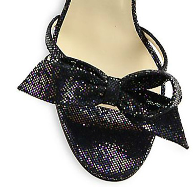glitter bow on shoe