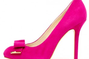 pink bow court shoes