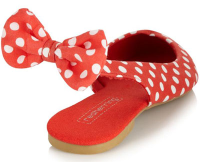 red dot slingback flats