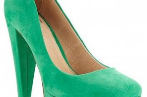 green platform shoes
