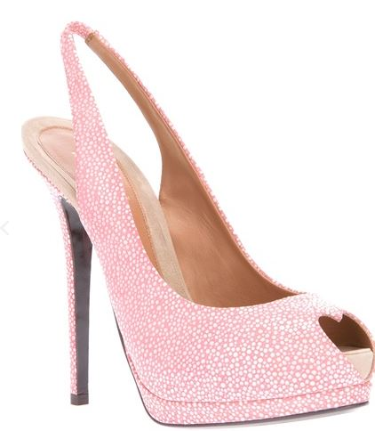 pink high heels with heart peep toe