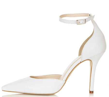 white stiletto shoes
