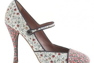 Tabitha Simmons for J Crew 'Folly' rose high-heel Mary Janes
