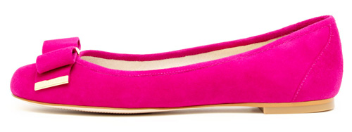pink ballet flats with bow