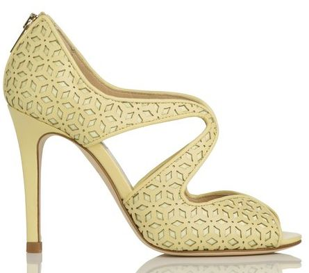 lemon high heel sandals