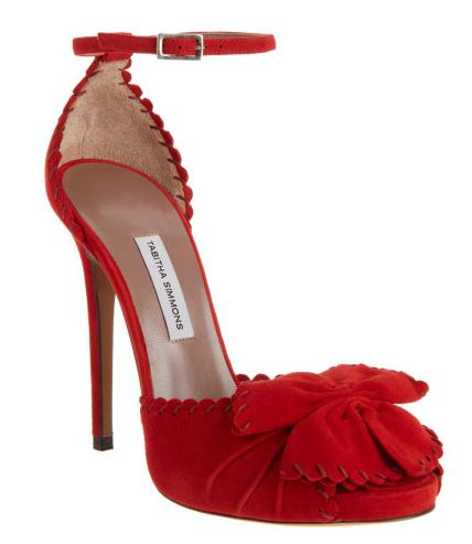 Tabbitha Simmons Ruby red suede sandals with ankle straps