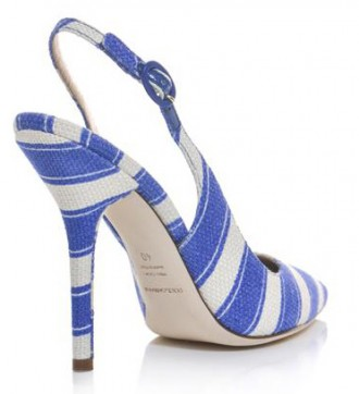 stripe slingback shoe