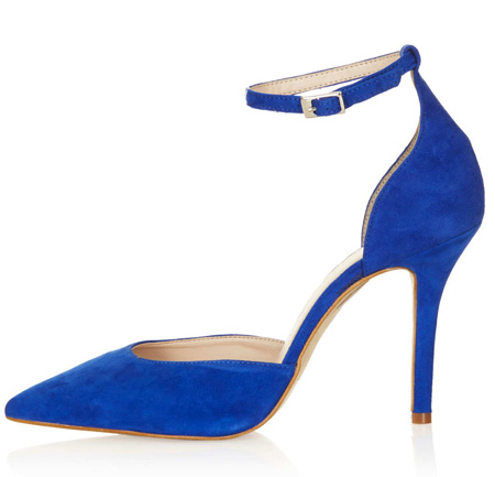 blue court shoes with ankle strap
