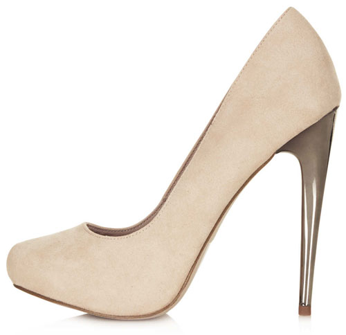 Topshop 'Steel' neutral high heels