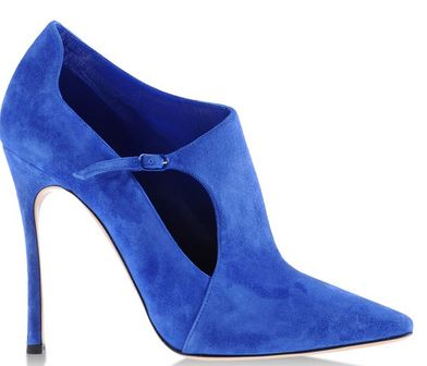 Blue suede shoe boots by Casadei