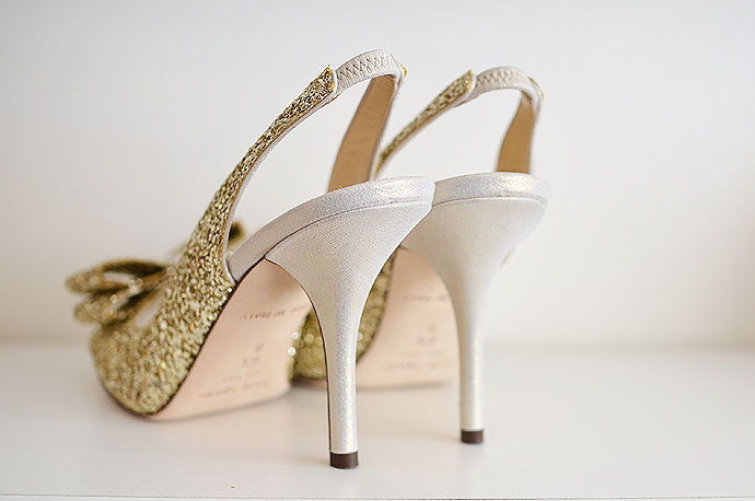 gold shoes with high heels