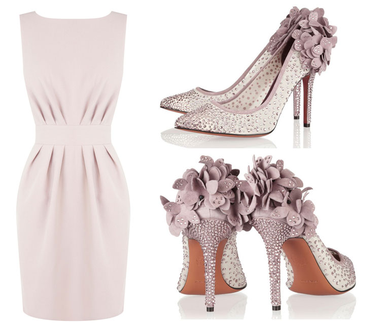lilac dress and shoes
