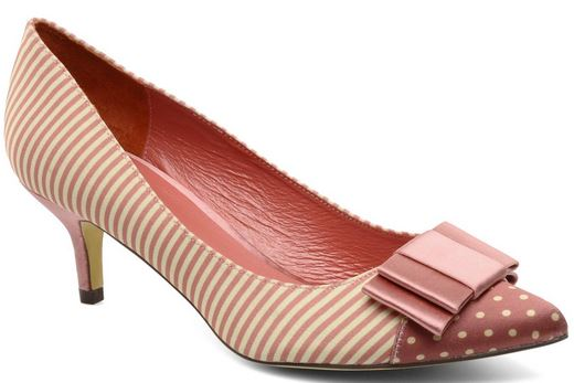 pink stripe and bow shoes