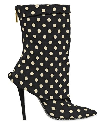 polka dot ankle boots