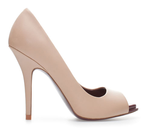 neutral heels from Zara