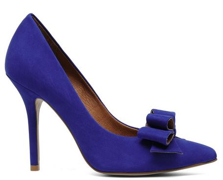 blue court shoes with bow