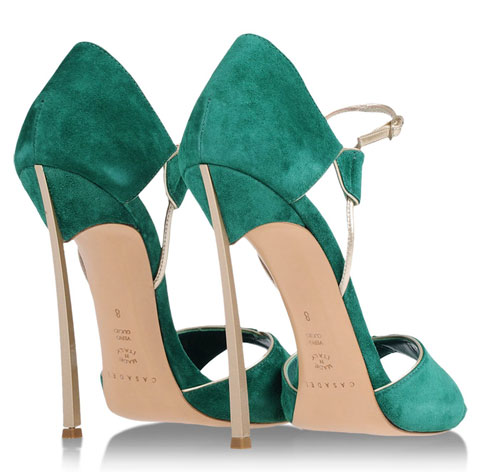 Casadei green and gold 'Blade' sandals > Shoeperwoman