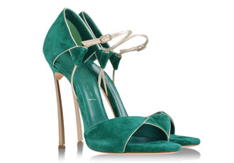 132d5fac3ae Casadei green and gold  Blade  sandals. Read More · High Heels ...