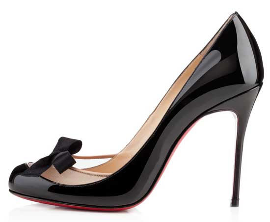 Christian Louboutin Filove 100 in black patent