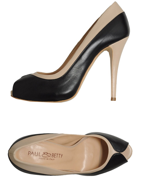 Paul & Betty two-tone peep toe shoes