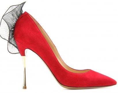 Nicholas Kirkwood red ruffle pumps