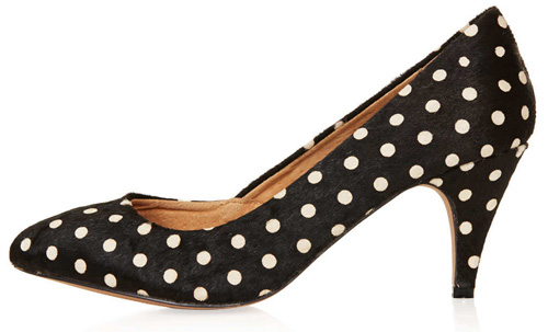 topshop 'Maple' mid-heeled pumps
