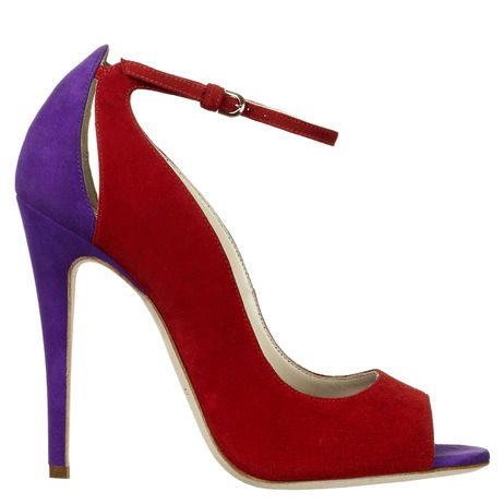 Brian atwood red and purple sandals