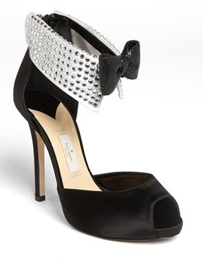 Kate Spade black tie pumps
