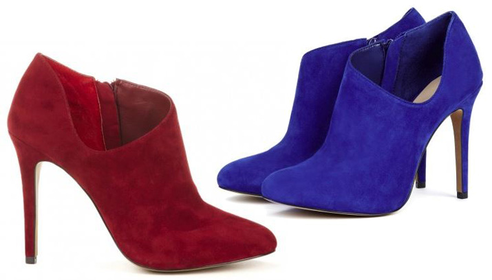 Sole Society Helena suede booties