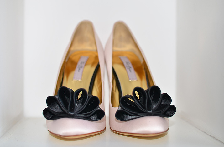 Ted BAker shoes with black bows