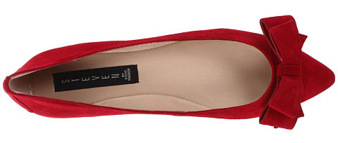 red flats with bow